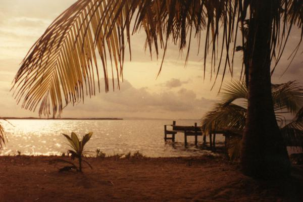 Picture of Belize (Sunset on Dangriga Key)