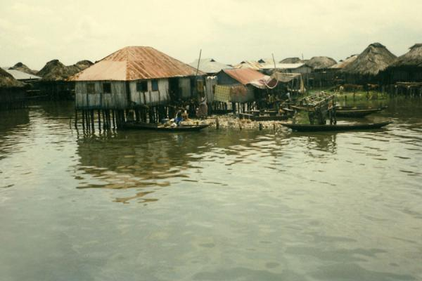 Foto van Benin (Ganvie village on stilts)