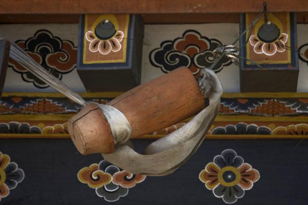 Picture of Bhutan phallic symbols (Bhutan): Hanging phallus over an entrance