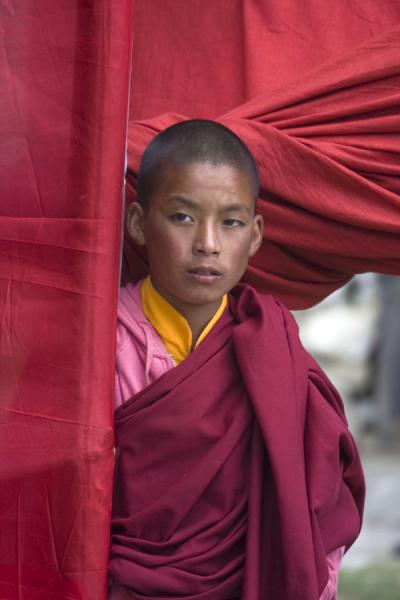 Young Bhutanese Buddhist monk at a monastery | Bhutanese monks | Bhutan