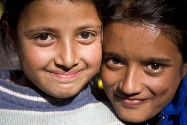 Two girls posing for a picture | Bhutanese women | Bhutan