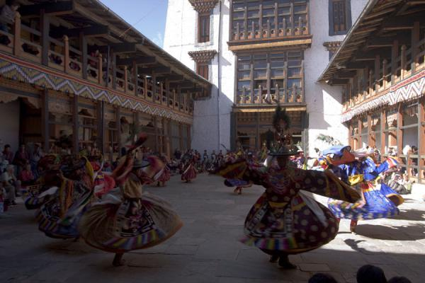 Picture of Jakar Dzong is the scene of this tsechu