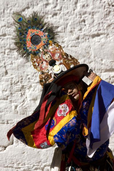 Picture of Black Hat dance: one of the performing monks