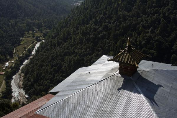 View from the roof of Cheri Monastery | Cheri Monastery | Bhutan