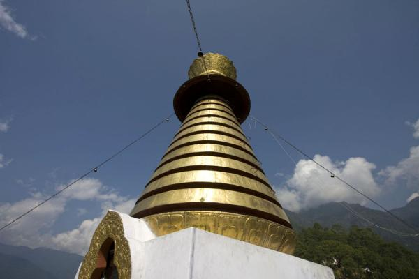 Golden spire on top of the chorten | Khamsum Yuelley Namgyal Chorten | Bhutan