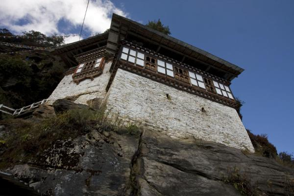 Foto van View of Kunzangdrak monastery from belowKunzangdrak - Bhutan