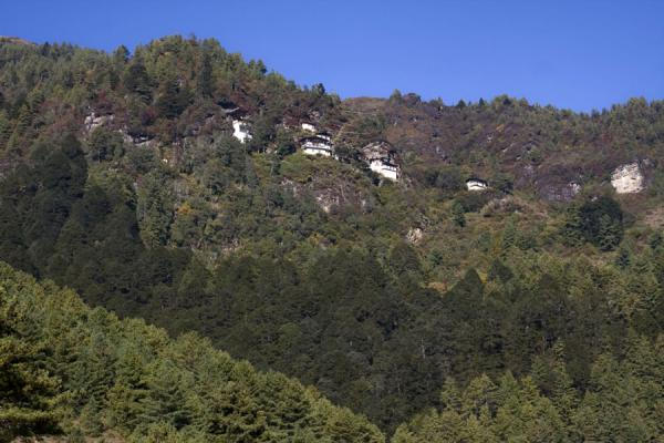 Foto van Kunzangdrak seen from belowKunzangdrak - Bhutan