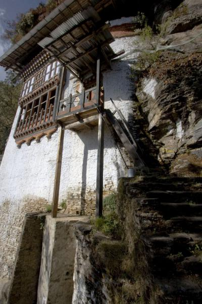 Foto van Khandroma Lhakhang, one of the buildings of KunzangdrakKunzangdrak - Bhutan