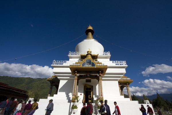 National Memorial Chorten seen from below | National Memorial Chorten | 不丹