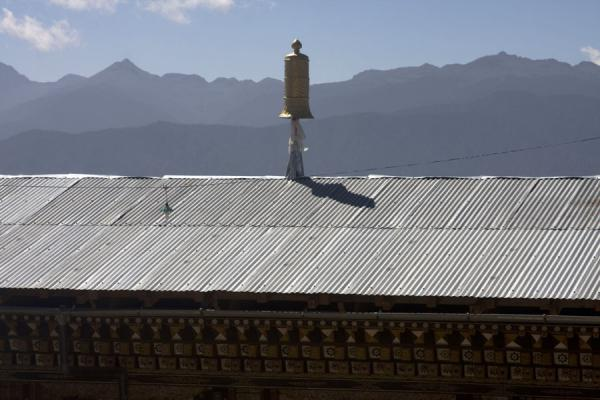 Picture of Petsheling monastery (Bhutan): Mountain range in a distance from Petsheling monastery