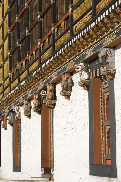 Side view of a building in Thimphu Dzong | Thimphu Dzong | 不丹