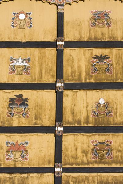 Detail of door in Thimphu Dzong | Thimphu Dzong | Bhoutan