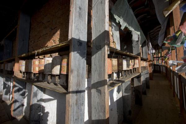 Prayer wheels at Thowada Goemba | Thowada Goemba | Bhutan