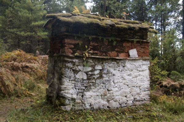 One of the prayer walls on the hike up to Thowada Goemba | Thowada Goemba | Bhutan