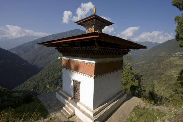 Picture of Trongsa Dzong (Bhutan): Religious building and the surrounding landscape at Trongsa Dzong