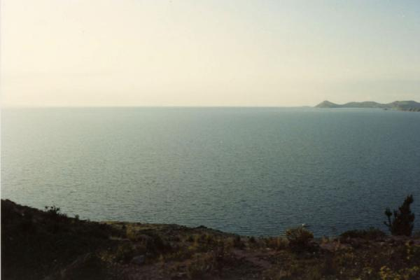 Picture of View over Lake Titicaca from one of the hills surrounding Copacabana