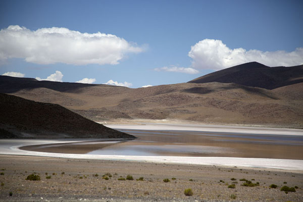 Picture of Laguna Honda with its dark waterEduardo Avaroa Reserve - Bolivia