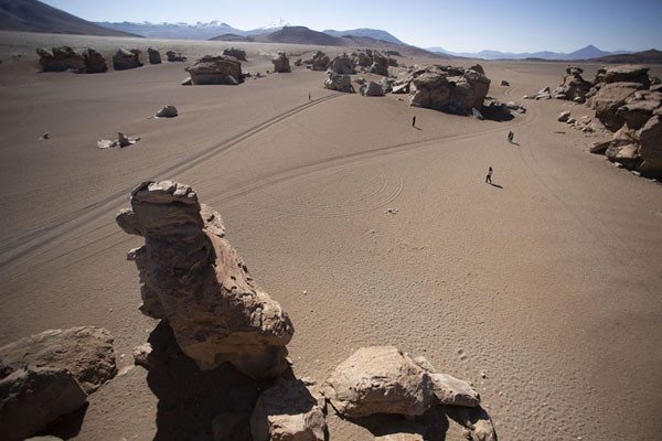 Photo de Looking south from the top of one of the rock formationsForêt de pierres de Eduardo Avaroa - la Bolivie