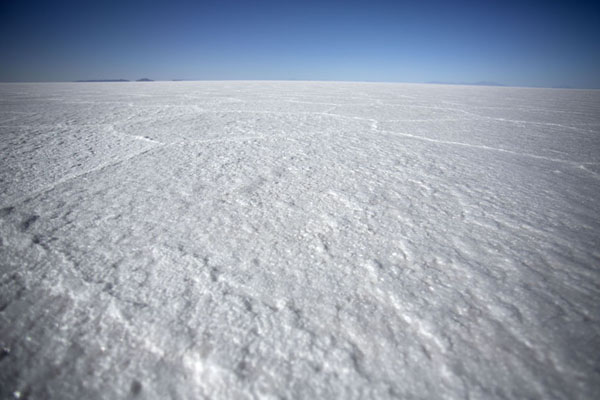 Foto van The endless white salt flat of Salar de UyuniSalar de Uyuni - Bolivia