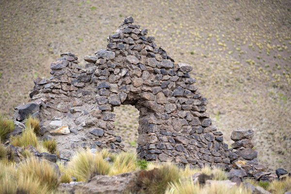 Picture of Ruined wall of a house in San Antonio de LípezSan Antonio de Lípez - Bolivia