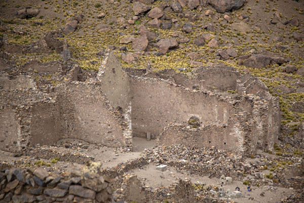 The ruins of the cathedral seen from above | San Antonio de Lípez ghost town | Bolivia