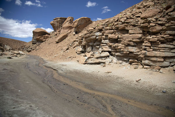 Foto van Small canyon in the southwest of BoliviaZuidwest Bolivia landschappen - Bolivia