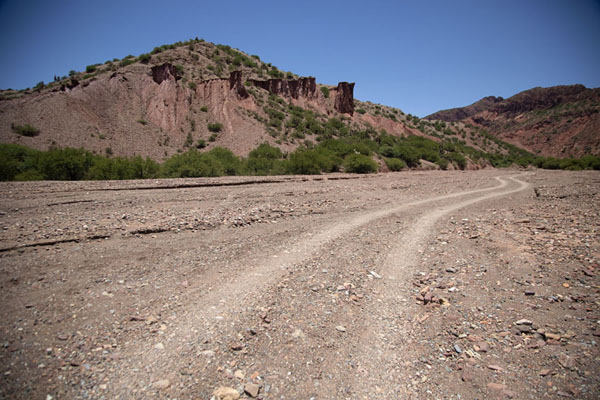 Foto van The wide entrance of the Canyon of the IncaTupiza - Bolivia
