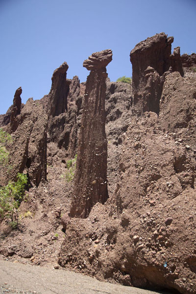 Photo de The Valle de los Machos, a curious part of the Canyon of the Inca, with phallic pillarsTupiza - la Bolivie
