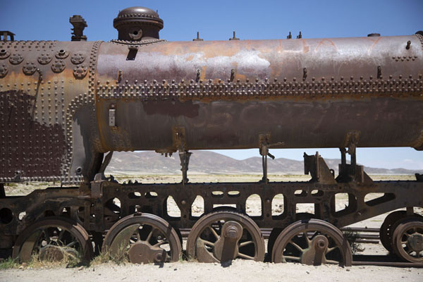 Their wheels always deeper in the ground, the train carriages will never run again | Train cemetery | Bolivia