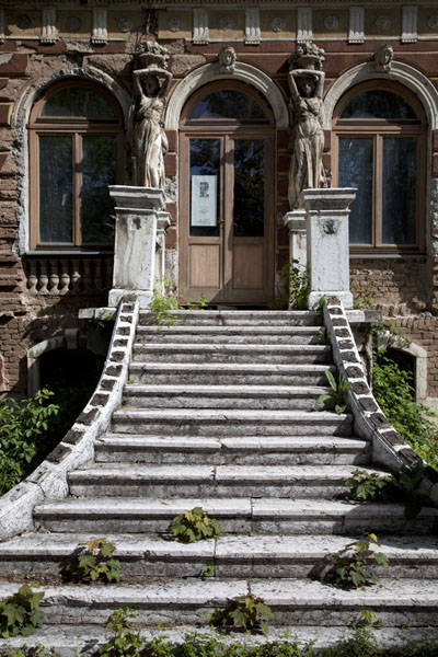 Stairs leading up to Villa Mandić, once housing the Olympic Museum of the 1984 Sarajevo Winter Games | Austro-Hungarian Sarajevo | Bosnia and Herzegovina