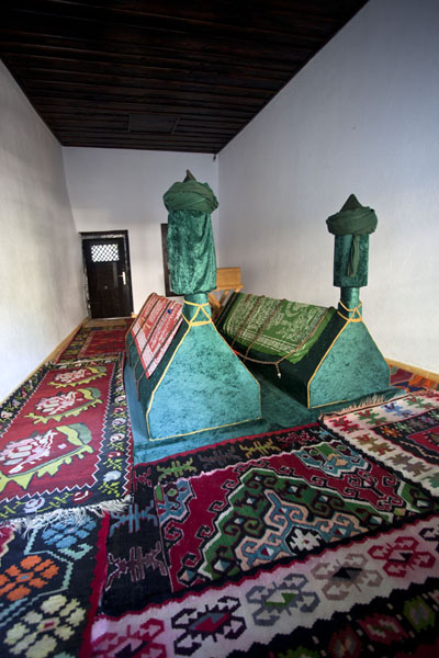 The tombs of two famous Tajik dervishes in the tekke of Blagaj | Blagaj Tekke | Bosnia and Herzegovina