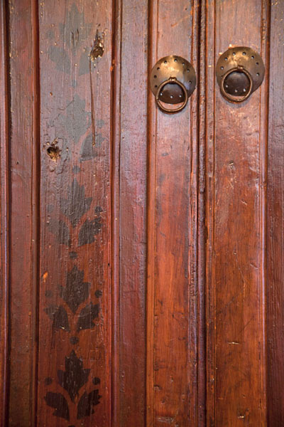 The wooden doors of a closet in the tekke | Blagaj Tekke | Bosnia and Herzegovina