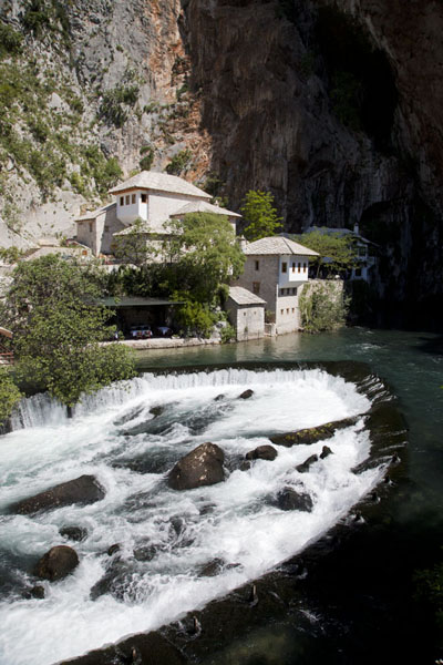 The tekke was built right into the cave from which the river Buna originates | Blagaj Tekke | Bosnia and Herzegovina