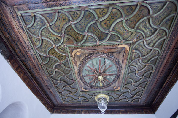 Picture of The decorated ceiling inside the tekke of Blagaj