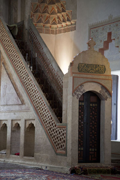 The minbar in the Gazi Husrev Bey mosque | Gazi Husrev Bey complex | Bosnia and Herzegovina