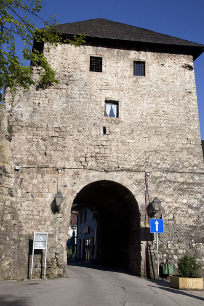 Picture of Travnik Gate provides entrance to the old town of Jajce