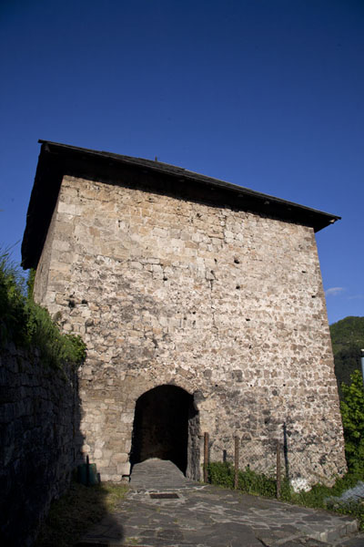 Castle tower mid-way between the old town and the fortress on top of the hill | Jajce | Bosnia and Herzegovina