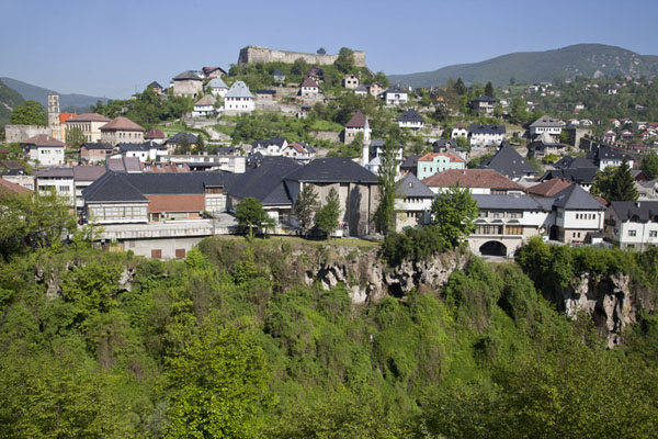 The old town of Jajce is topped by the fortress | Jajce | Bosnia and Herzegovina