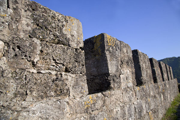 Picture of The wall of the fortress of Jajce on top of the mountain