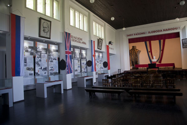 The hall of the AVNOJ museum | Jajce | Bosnia and Herzegovina
