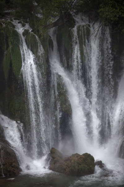 Detail of a section of the waterfalls of Kravice | Kravice waterfalls | Bosnia and Herzegovina