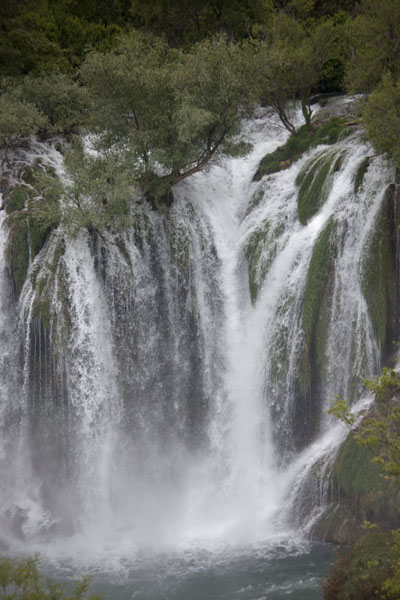 Picture of Water falling down at the falls of Kravice