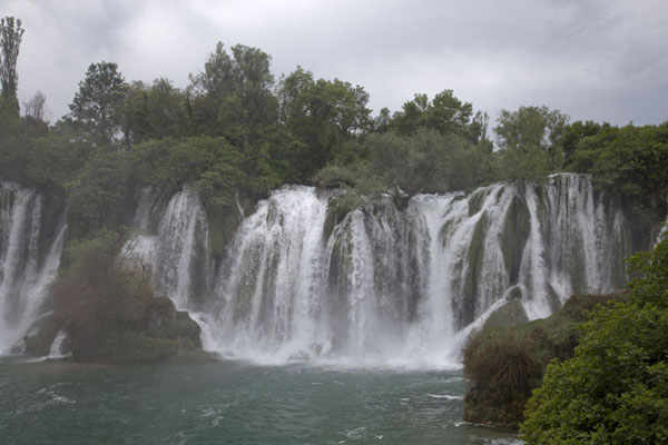 The central section of the waterfalls of Kravice | Kravice waterfalls | Bosnia and Herzegovina