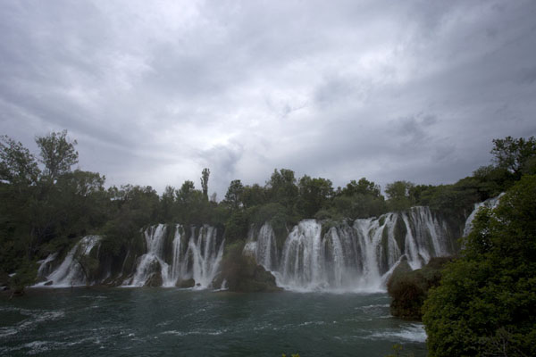 Picture of Kravice waterfalls (Bosnia and Herzegovina): The waterfalls of Kravice seen from a distance