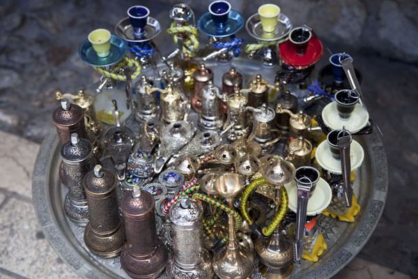Close-up of goods for sale at the market of Sarajevo | Ottoman Sarajevo | Bosnia and Herzegovina