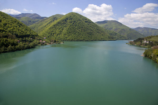 The large Pliva Lake seen from above | Pliva Lakes | Bosnia and Herzegovina