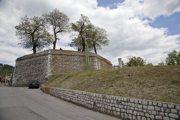 Picture of The Yellow Bastion is part of the defence system still visible in VratnikSarajevo - Bosnia and Herzegovina
