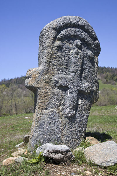 Picture of Stecci Rostovo (Bosnia and Herzegovina): One of the stećci, tilting, in the landscape around Rostovo