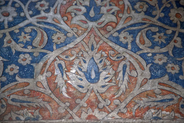 Close-up of the decoration of the interior of the mosque | Multi-coloured-mosque | Bosnia and Herzegovina