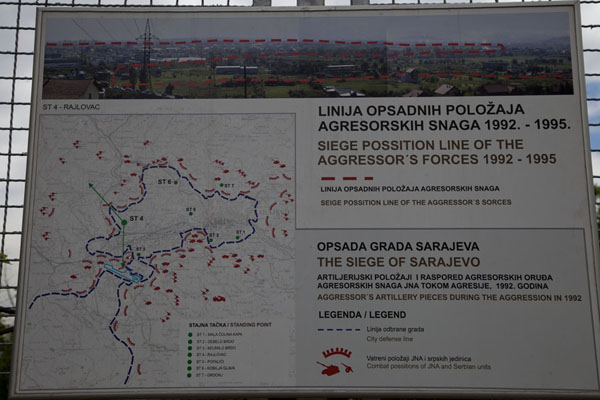 Explanatory board outside the museum of the Tunnel of Life | Tunnel of Life | la Bosnie-Herzégovine